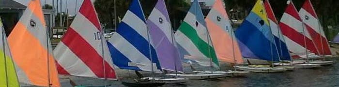 Picture of a Sunfish sailboat.